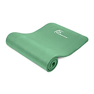 "Prosource Premium Extra Thick Yoga and Pilates Mat 1/2"", Green"