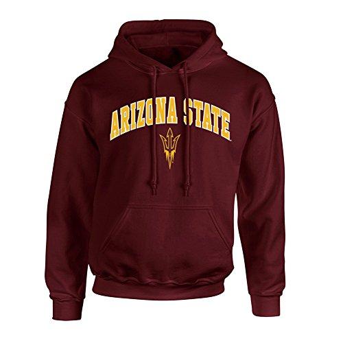 Arizona State Sun Devils Hooded Sweatshirt Arch Maroon - XXL