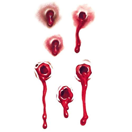 Scary Butterfly Costumes Makeup - Akabsh10PC Wound Scab Blood Halloween Scar