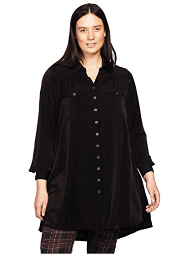 Bargain Catalog Outlet Ellos Plus Size Button Front Trapeze Big Shirt - Outlet Ellos