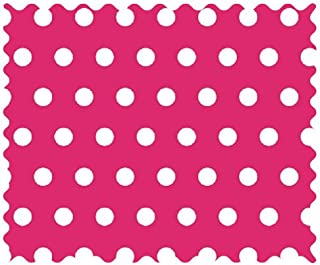 product image for SheetWorld 100% Cotton Percale Fabric by The Yard, Polka Dots Orange, 36 x 44