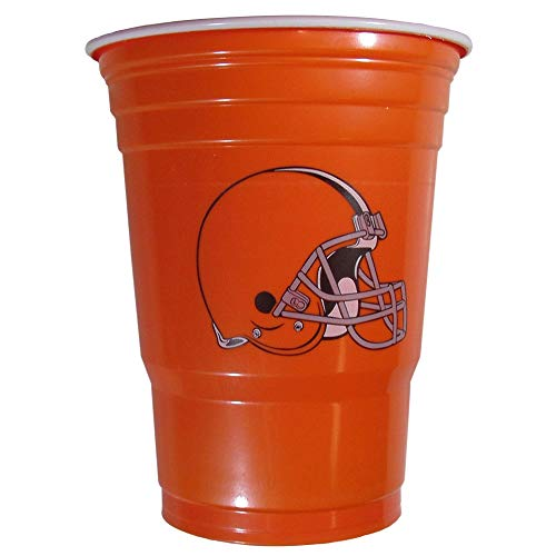 NFL Siskiyou Sports Cleveland Browns Plastic Game Day Cups, 18 Count, (18 oz) Team Color