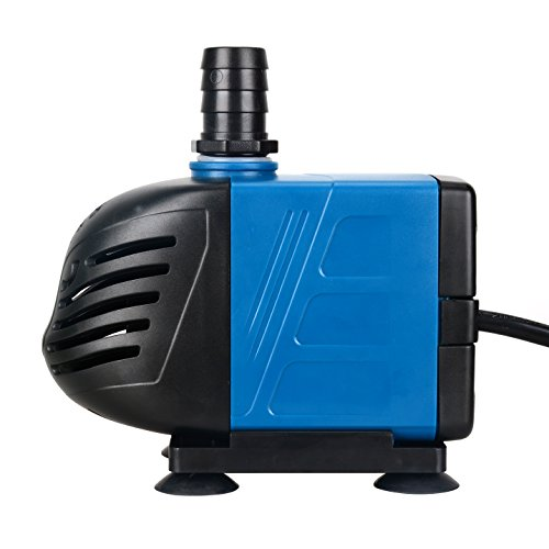 Uniclife 800 gph submersible inline water pump for pond for Pool pump for koi pond