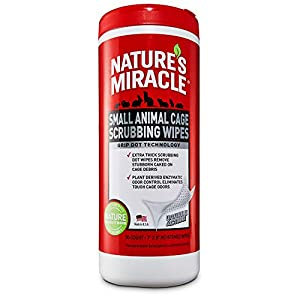 Nature's Miracle Small Animal Cage Scrubbing Wipes 1