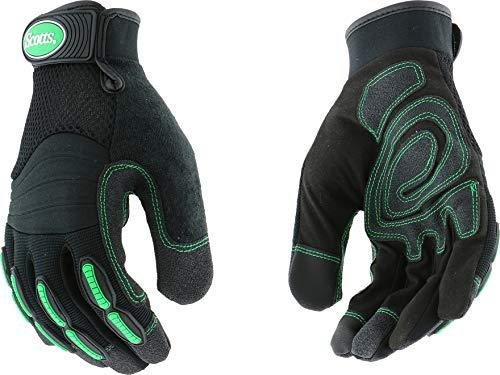 West Chester Scotts SC39200 Touchscreen Technology Hi-Dex Impact Glove with Pad Knuckles, Reinforced Palm, Medium, Black - Scott Nylon Gloves