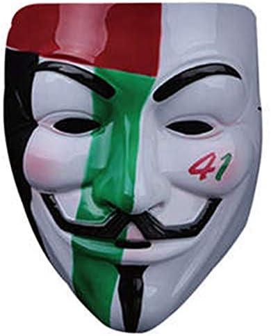 Lzdingli Equipo de Halloween Disfraz Máscara V para Vendetta Guy ...