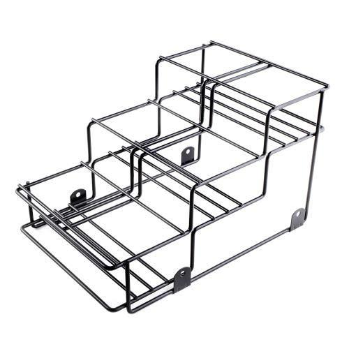 Dispense-Rite WR-BOTL-6 Six Compartment Wire Bottle Holder Countertop Wire Bottle Organizer