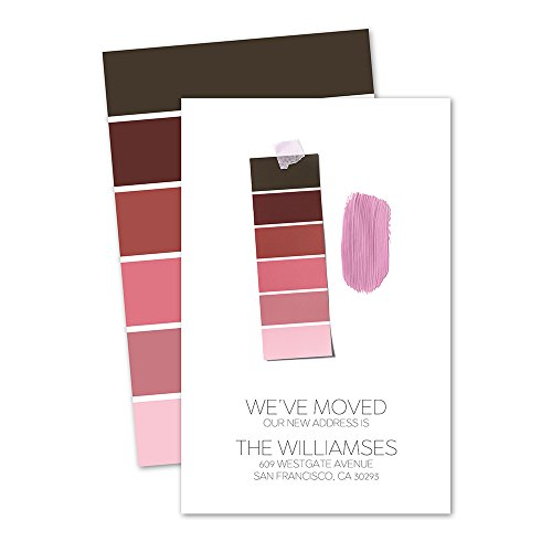 Personalized Moving Announcement - Paint Swatches Personalized Moving Announcement - Purple