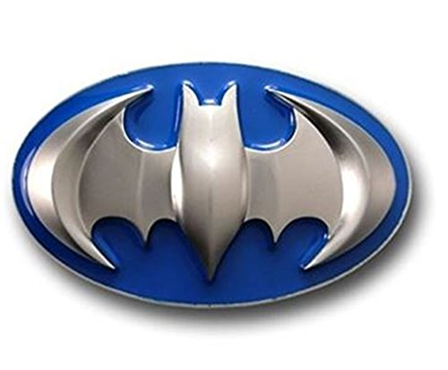 Batman Dark Knight Rises Black Bat in Yellow Oval Finished Belt Buckle.