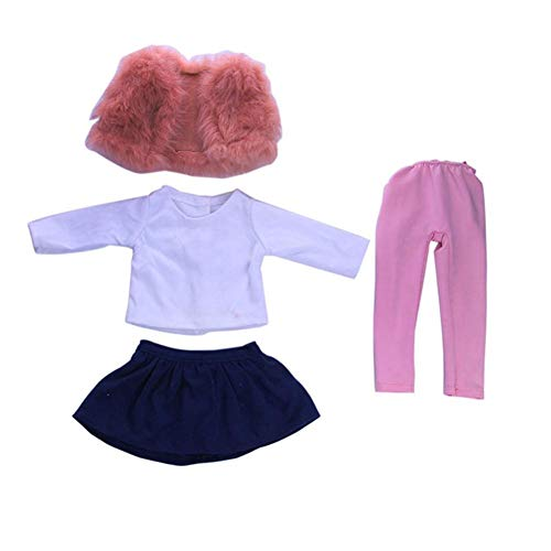 Cinhent Toys, 1 Set Daily Costumes Clothes Gifts for 18 inch American Cute Doll Accessory, Winter Lovely Suit, 0~6 Years Old Baby Girls Pretend Play Game, Our Generation Educational Props, No Doll