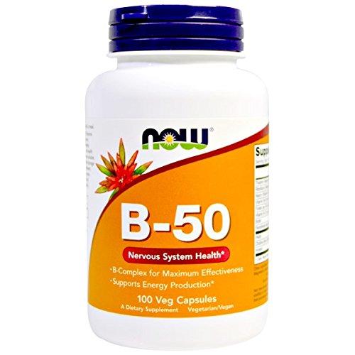NOW Vitamin B 50 100 Capsules