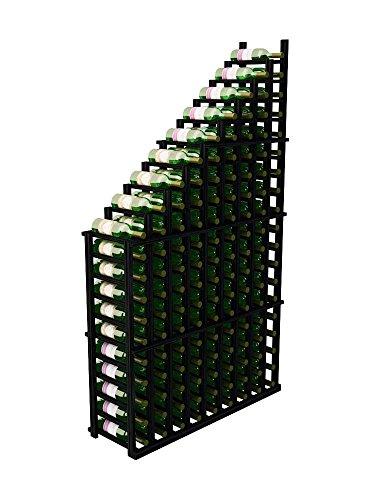 (Wine Cellar Innovations Designer Series Left Falling Waterfall Wine Rack, Allheart Redwood, Midnight Black Stain )