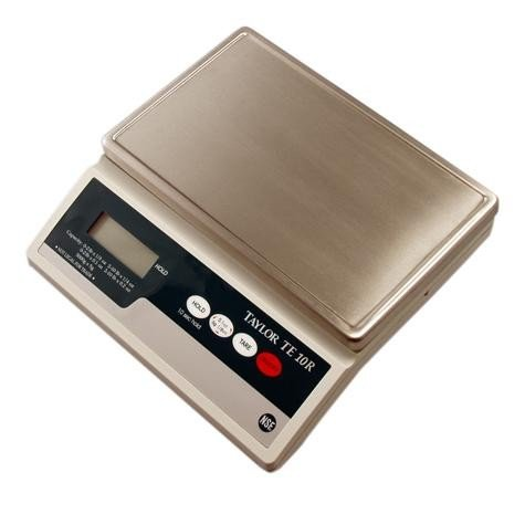 Taylor Precision Products TE10R Digital 10 Pound Portion Scale S/S Platform by Taylor Precision Products