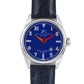 Bello & Preciso italienische Herren-Armbanduhr Modell 43 Cobalto