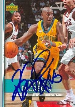 Autograph Warehouse 99019 Bobby Jackson Autographed Basketball Card New Orleans Hornets 2007 Upper Deck No. 21