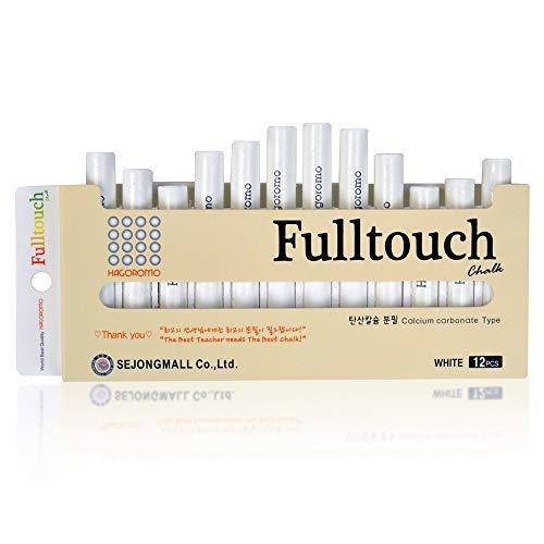 - HAGOROMO Fulltouch Color Chalk 1 Box [12 Pcs/White]