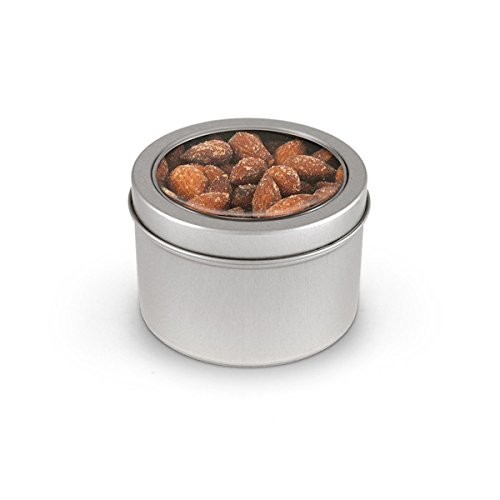 Almonds, Smoked Round, Window Medium Tin 48ct/5.5oz by In-Room Plus, Inc.