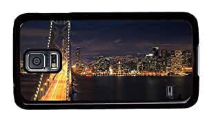 Hipster Samsung Galaxy S5 Case custom made cover Night of San Francisco PC Black for Samsung S5