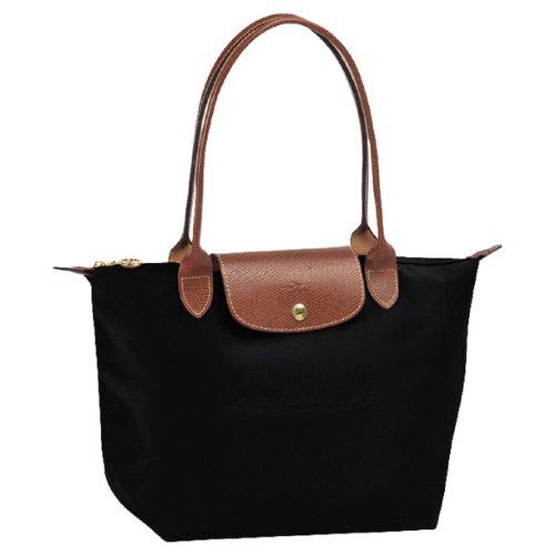 Longchamp Pliages Black Medium Tote Bag Purse (Longchamp Large Tote Bag)