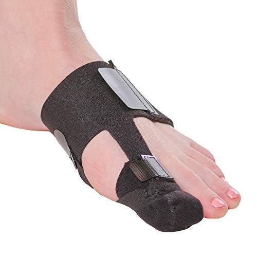 BraceAbility Turf Toe Brace | Big Toe Taping Splint Straightener Wrap with Support Straps for Sprains, Hallux Rigidus or Sesamoiditis Relief (Left Foot)