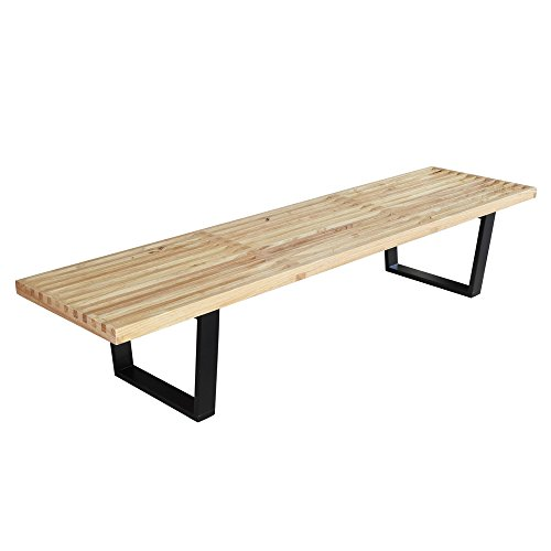 Modern Contemporary Bench, Brown, Wood (Dining Cb2 Bench)