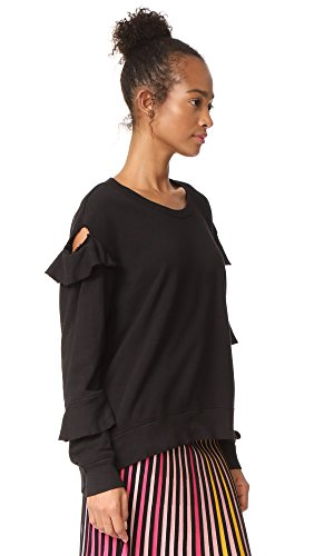 Wilt Women's Raw Ruffle Sweatshirt, Black, Large by Wilt (Image #3)