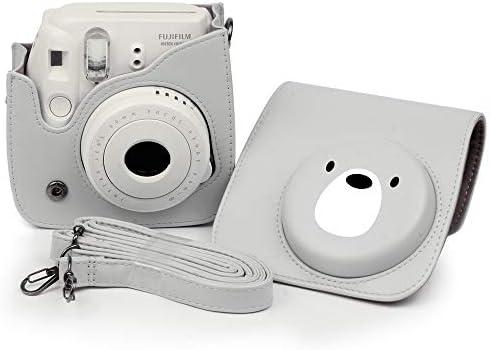 Bolsa Protectora Transparente para C/ámara Instant/ánea PVC Duro Cristal con Correa Desmontable Fintie Funda para Fujifilm Instax Mini 9//Mini 8+//Mini 8 Cristal de Colores