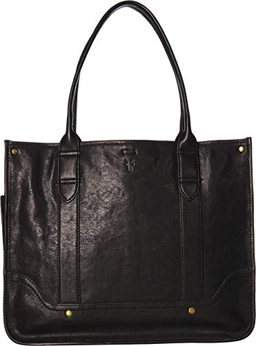 Frye Women's Madison Shopper Black Soft Vintage Leather One Size ()