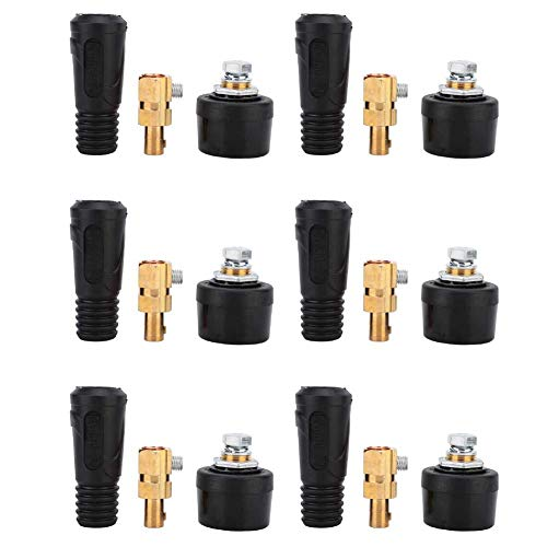 35-50 Strong Conductivity and Safe to Use 2Pcs Copper Euro Style Welding Cable Quick Connector 200-400A DKJ Welding Wire Connector Welding Cable Connector