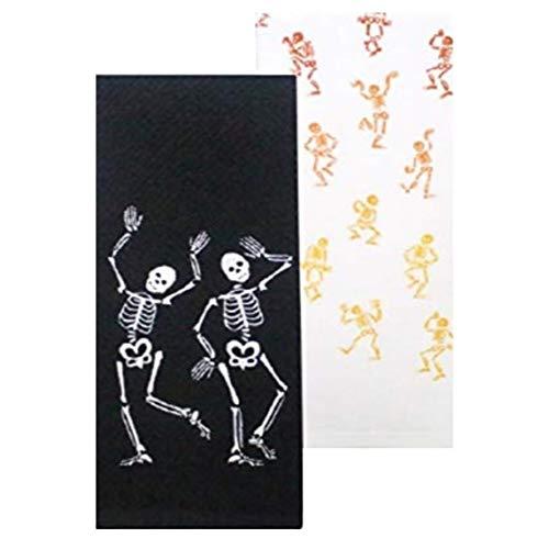 Dancing Skeletons Kitchen Towels, Set of -