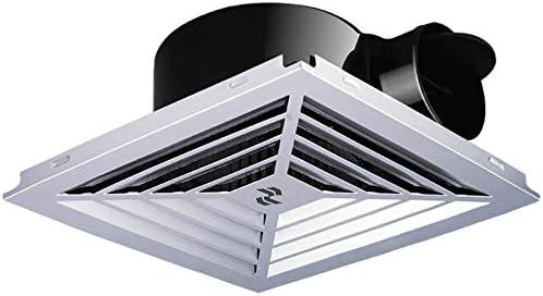 HDZWW キッチントイレ浴室用換気ファン、ホワイトスクエアの天井や壁マウント換気扇低ノイズ換気扇ベンチレーター