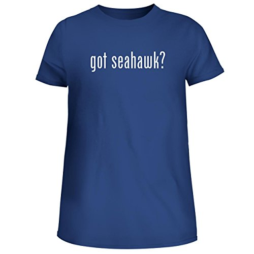 BH Cool Designs got Seahawk? - Cute Women's Junior Graphic Tee, Blue, Medium