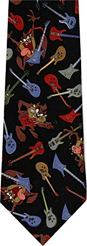 Taz Guitar Rock New Cartoon Novelty Tie (Necktie Tunes Looney)