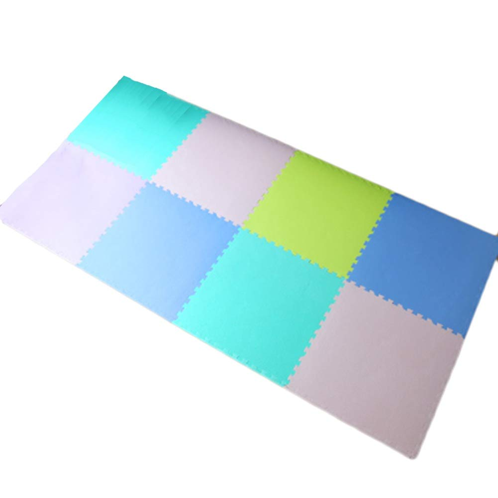 HLMIN 明るい色の組み合わせ ベビークロールマット 連動 柔らかい EVAフォーム 無毒 (サイズ さいず : 8p) 8p  B07RBX1GLQ