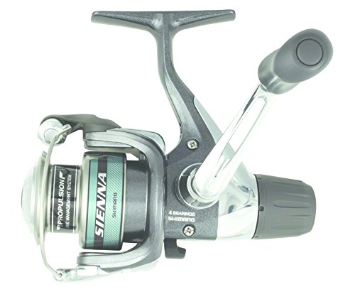 Shimano Sienna Spin Reel (5.1:1 10-Pounds/200 RD Heavy Me...