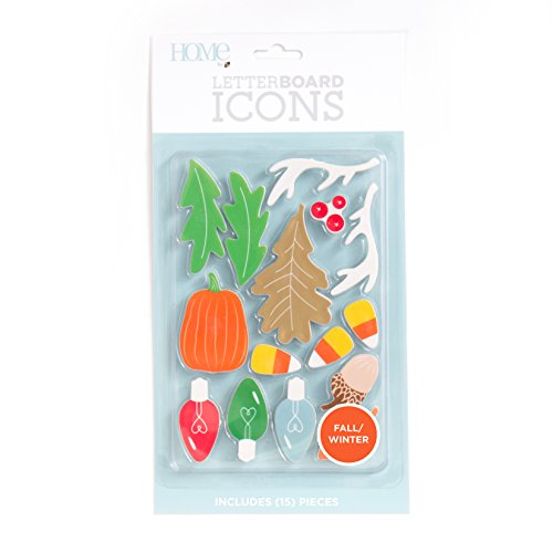 Fall Icon - American Crafts 15 Piece Winter/Fall Icon Pack Die Cuts with a View Letterboards