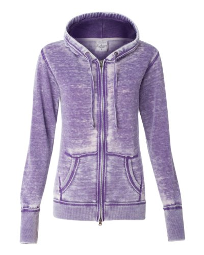J America Women's Vanity Zen Fleece Full-Zip Hooded Sweatshirt
