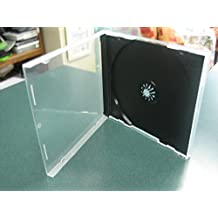 50 PCS CLEAR CD POLY CASE W/BLACK TRAY, UNBREAKABLE 10.4MM, ASSEMBLED - BL1400