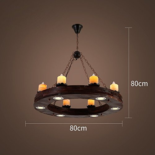 ZI LIN SHOP- Retro Industrial Chandelier Cafe Restaurant Cafe Creative Personality Nostalgic Ship Wood Lamps rug