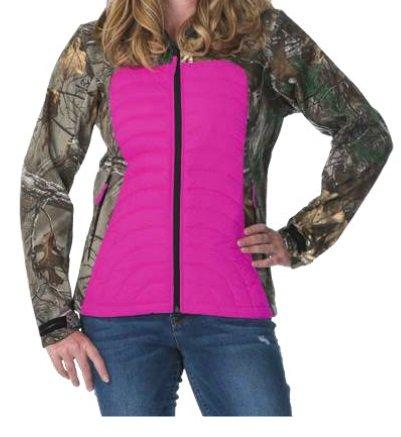 9195810c9b780 DSG Outerwear Camo Softshell Jacket, Realtree Xtra Pink, 4X-Large