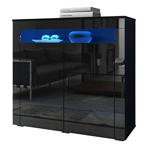 High Gloss Sideboard With Led Lights - 8