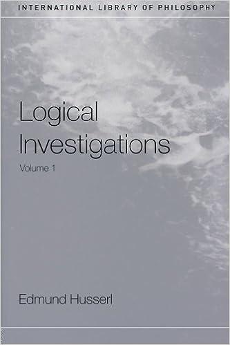 Descargar Logical Investigations, Volume 1: Vol 1 Epub
