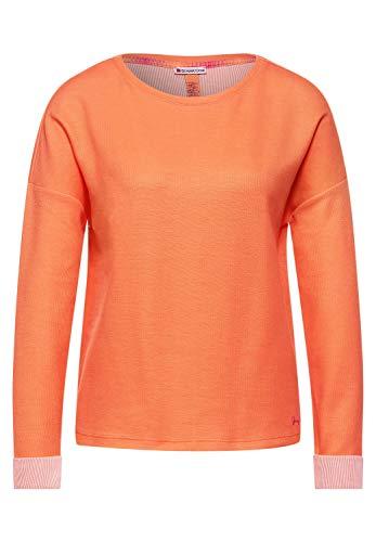 Street One – Shirt mit Doubleface-Optik in Strong Mandarine