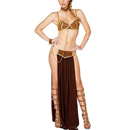 Besties Shop Star Wars Adult Women Sexy Princess Leia Slave (Slave Girl Costume Princess Leia)