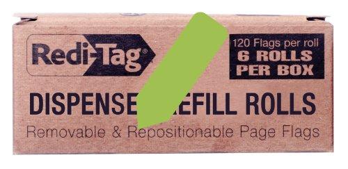 REDI-TAG Solid Arrow Dispenser Flags, 6 Roll Refill, 120 ...
