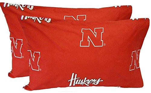 Nebraska Cornhuskers Printed Pillow Case (Set of ()