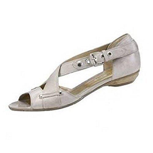 IAW Sandalette - Sandalias de cuero para mujer Gris