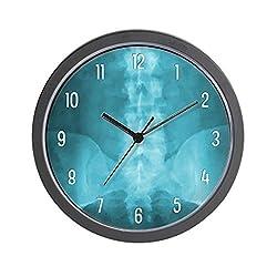 CafePress Blue Digital X Ray Art Unique Decorative 10 Wall Clock