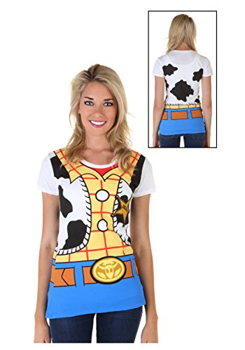 Woody Costume Women (Mighty Fine Toy Story I Am Woody Juniors Costume Tee White)