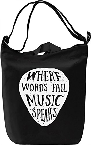 Music speaks Borsa Giornaliera Canvas Canvas Day Bag| 100% Premium Cotton Canvas| DTG Printing|